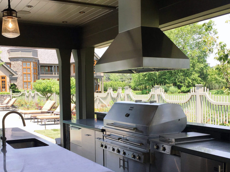 Ceiling mounted Barbecue stainless non-directional