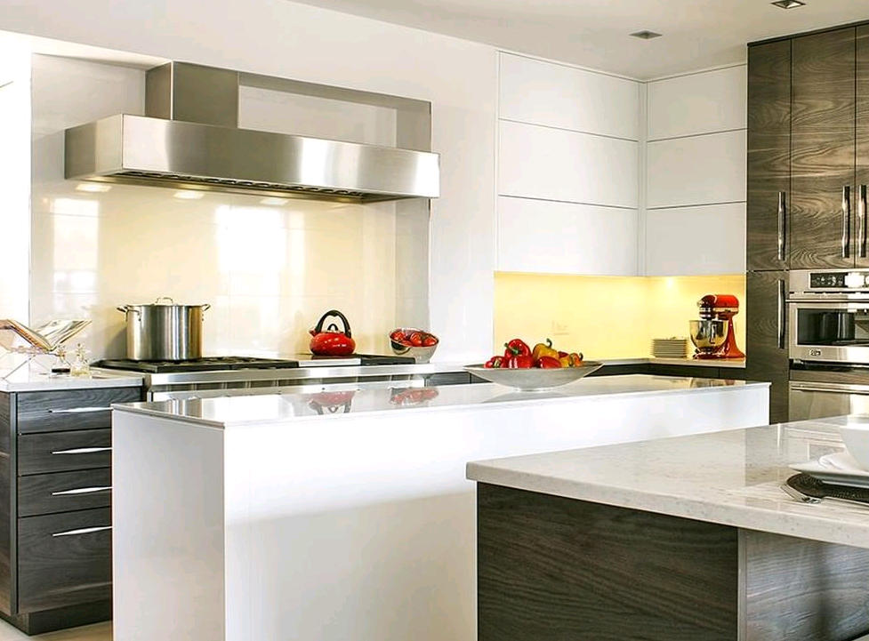 Wall mounted Cosmopolitan in polished stainless steel.