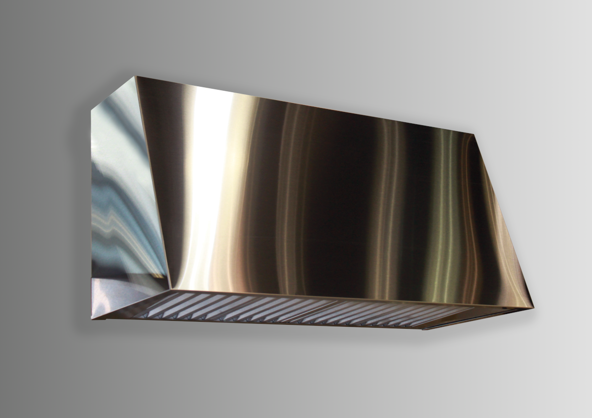 Wall mounted Keystone in brushed stainless steel.