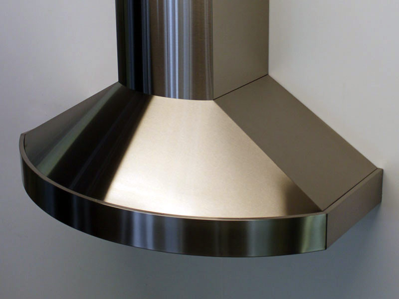 Wall mounted Chianti with a brushed stainless steel body.