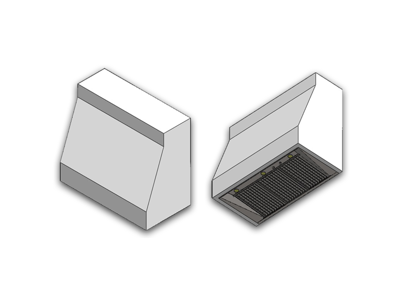 Architectural drawing of a wall mounted Summit. Please see below for wall and ceiling mounted specifications.