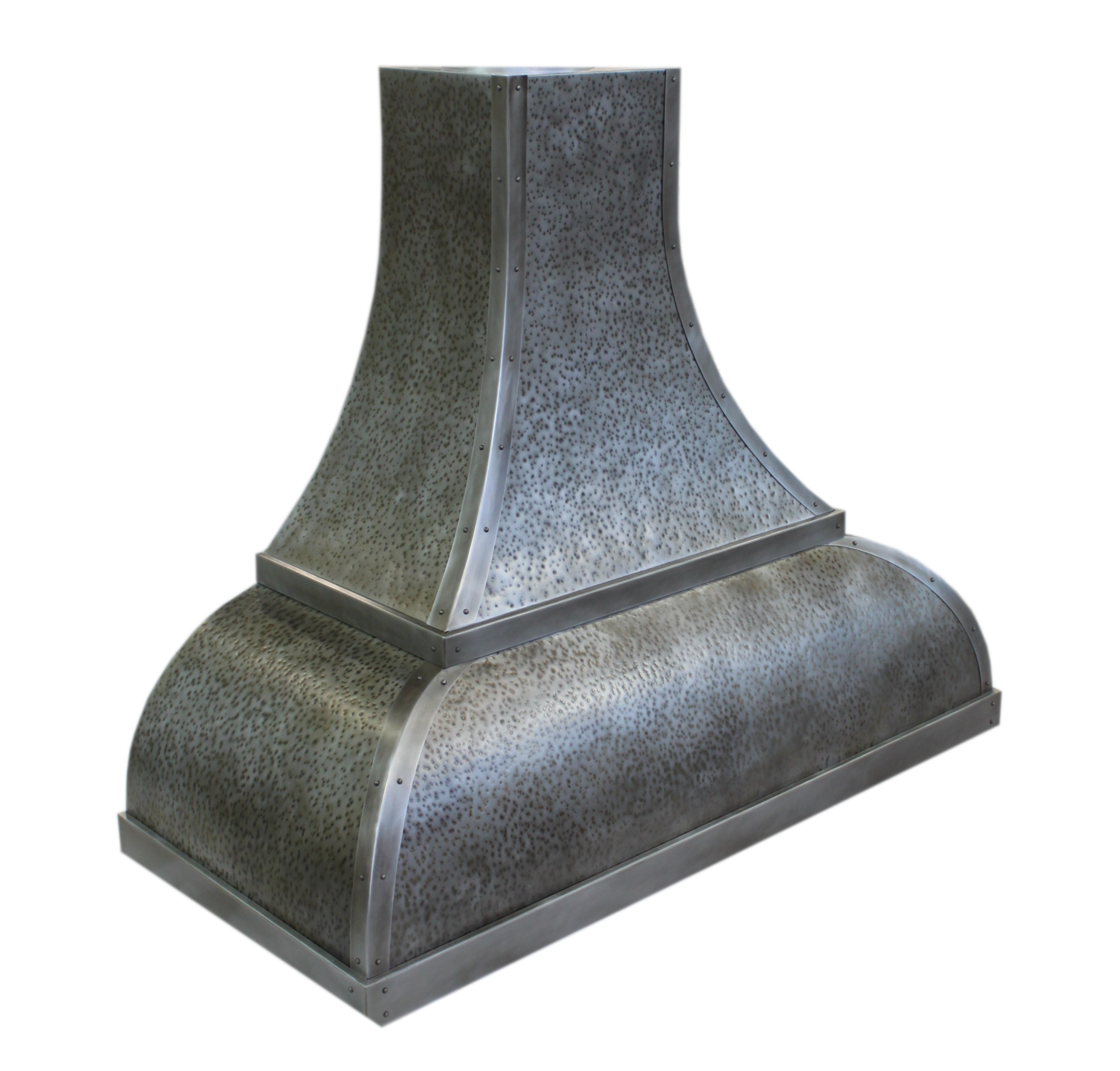 Wall mounted Venetian in antique hammered zinc
