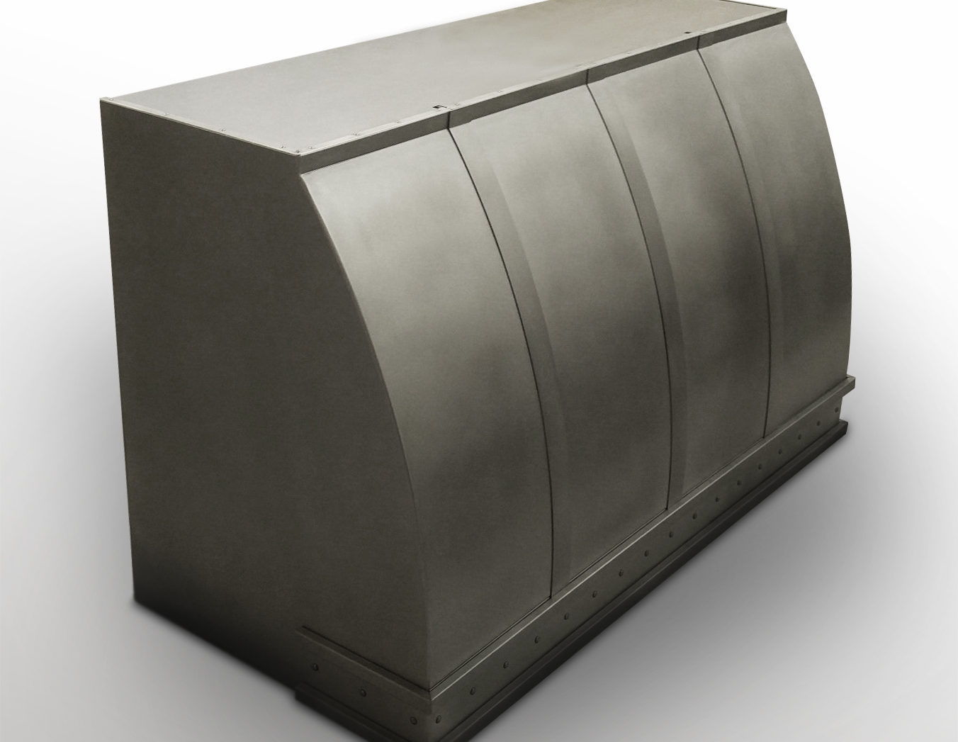 Wall mounted Canopy in non-directional pewter.
