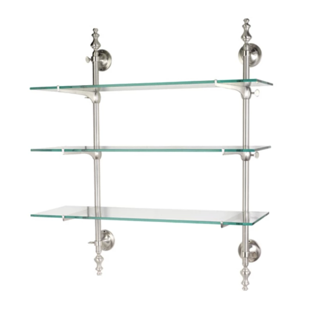 French bistro shelf in satin nickel