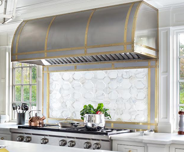 Stainless steel designer range hood